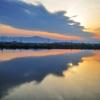 川渡る朝雲
