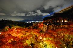 秋の清水夜景