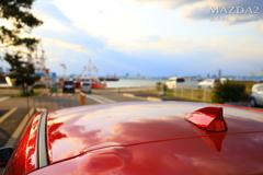 夕陽の港とMAZDA2