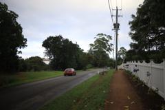 朝の車 オーストラリアの風景写真