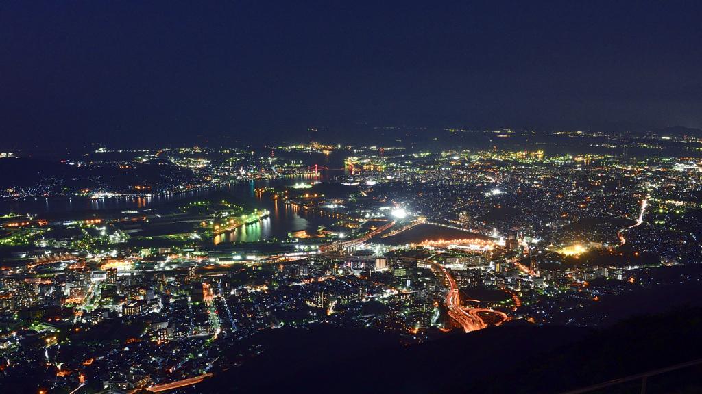 皿倉山2019 9月-3 洞海湾 夜景