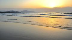 岩屋海岸2021 3月 渚夕景①