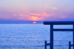 櫻井二見が浦2020 6月-3 鳥居と海