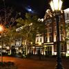 ハウステンボス2020 9月 夜のHOTEL AMSTERDAM&月