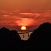 櫻井二見が浦2020 6月-4 夫婦岩と夕陽