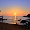 櫻井二見が浦2020 6月-3 夕陽と浜辺