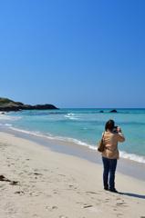 角島2020 3月 コバルトブルービーチ①