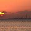 別府湾2021 3月-1 朝陽と製鉄所