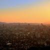 K市2020 8月-1 夕陽と都市