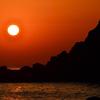 櫻井二見が浦2021 4月 夕陽とシルエット