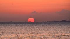 別府湾2021 3月-1 朝陽