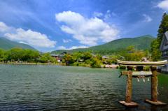 湯布院2018-2 夏 金鱗湖&天祖神社 鳥居