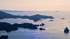 九十九島2020 9月-5 石岳展望台 島影①