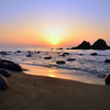 櫻井二見が浦2021 4月 夕陽と夫婦岩②