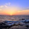 はまゆう公園2021 4月 夕陽と響灘