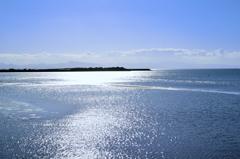 真玉海岸2021 10月-1 光る海