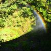 菊池渓谷2020 10月-1 渓流に架かる虹