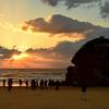 稲佐の浜2020 11月-1 夕陽と弁天島