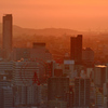 K市2020 6月 夕陽と観覧車
