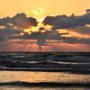 稲佐の浜2020 11月-1 夕陽と光芒①