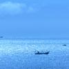 岩屋海岸2020 6月-2 光る海と空の境界