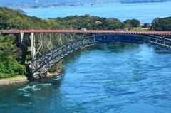 西海の丘2020 9月 旧西海橋と潮流