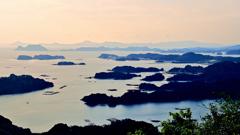 九十九島2020 9月-5 石岳展望台 島影③