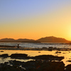狩尾岬2020 12月-1 夕陽と洞山