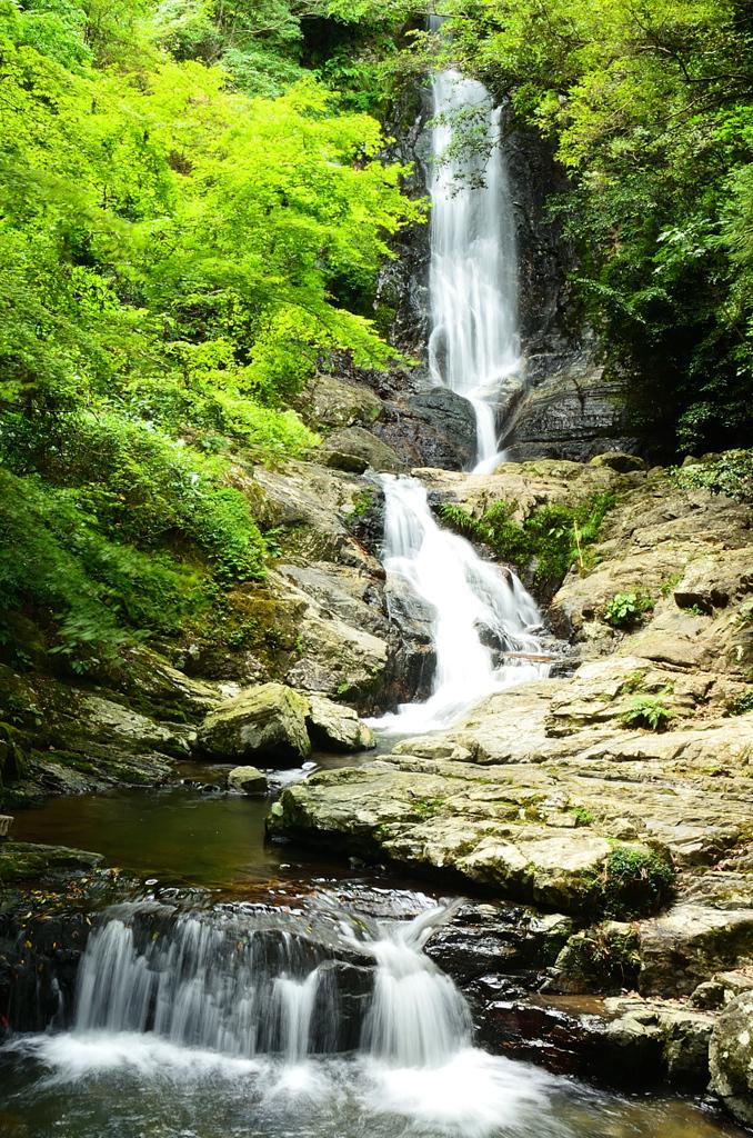 菅生の滝2020 8月-1 滝①