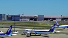 羽田空港 RUNWAY 34Lを挟んで