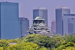 助手席からの大阪城