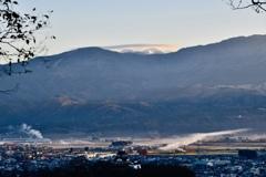大野城と白山の傘雲