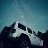 jeepと星空