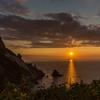 祝津パノラマ展望台からの夕陽