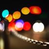 チェーン 夜の道路