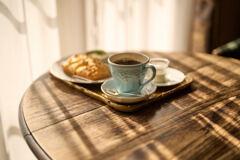コーヒーと日向ぼっこ。