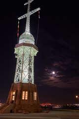 月夜の旧神戸港信号所です。