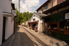 嵐山の街風景です。