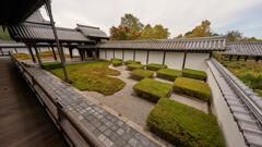 東福寺のの庭園。