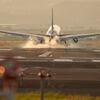 着陸の瞬間。