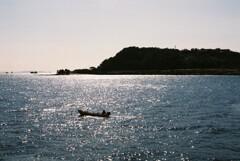 ボートで釣り