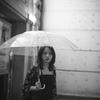 小雨の街角