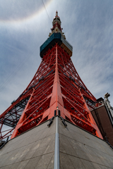 東京タワーの虹の輪(ハロ現象?) 作例1