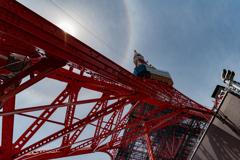 東京タワーの虹の輪(ハロ現象?) 作例2