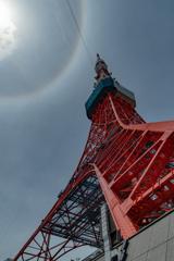 東京タワーの虹の輪(ハロ現象?) 作例5