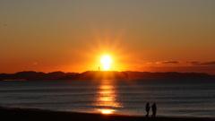 朝日と江ノ島展望台