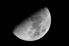 今夜の月(月齢8)