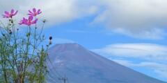 富士山麓に秋の訪れ