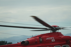 ヘリコブター発進