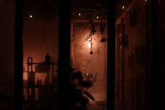 美容院の窓飾り 静岡北街道